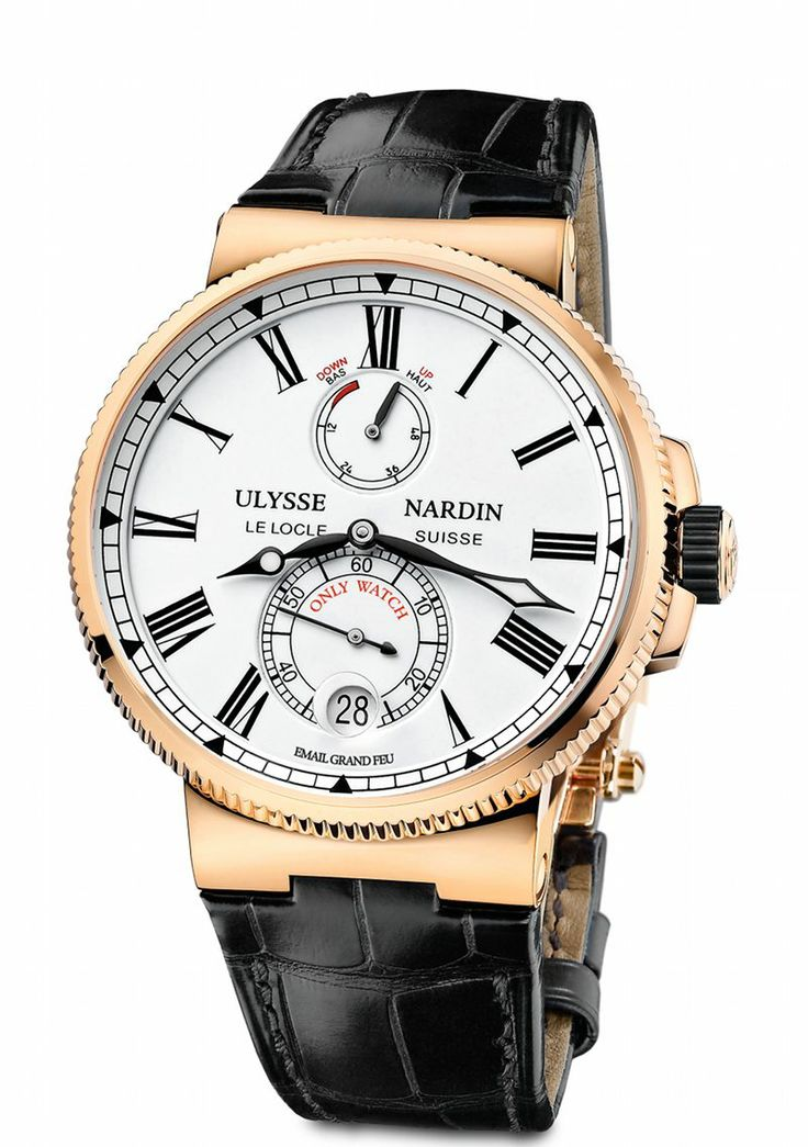 ULYSSE NARDIN: Marine Chronometer Manufacture Only Watch 2013 http://www.orologi.com/cataloghi-orologi/ulysse-nardin-marine-marine-chronometer-manufacture-only-watch-1186-126-ow