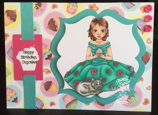 Pyper Creations: Cupcake Birthday card using Flowers, Feathers and Fairies