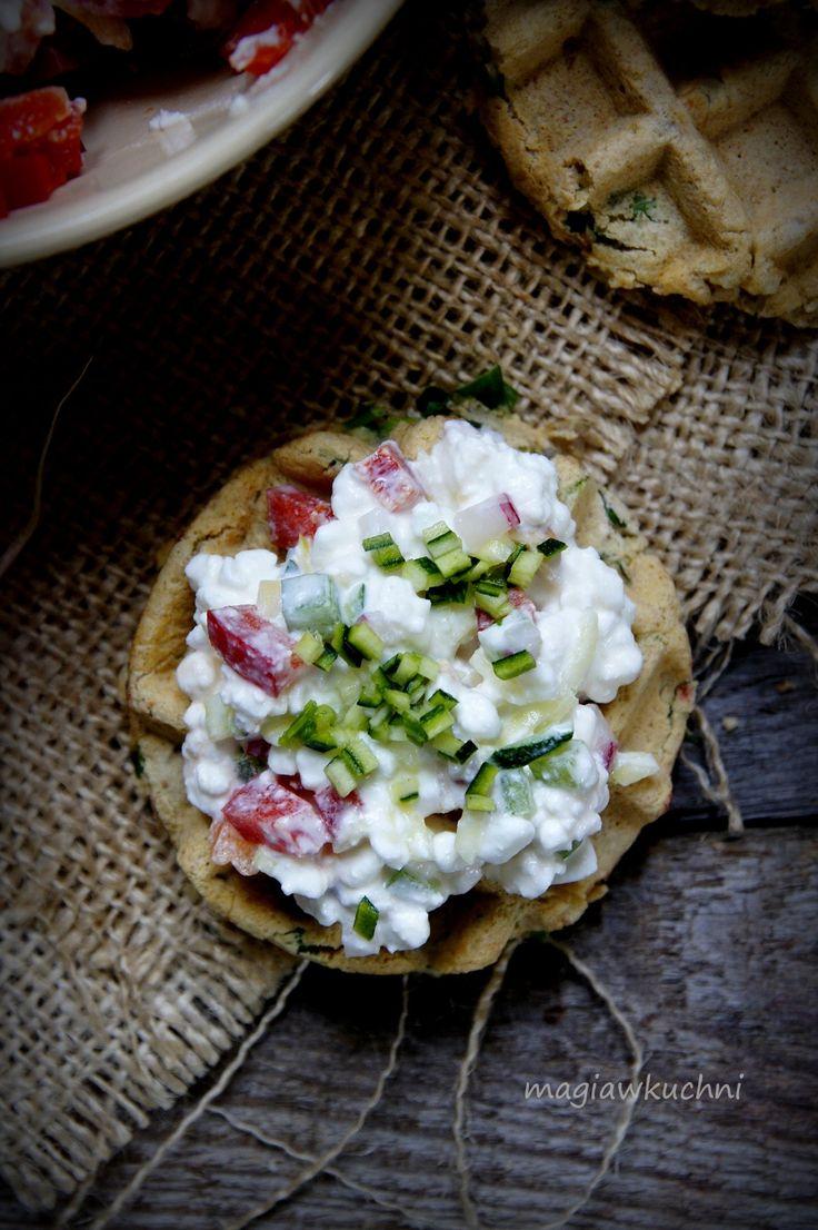 Waffles breakfast with ricotta./ Gofry śniadaniowe z ricottą.