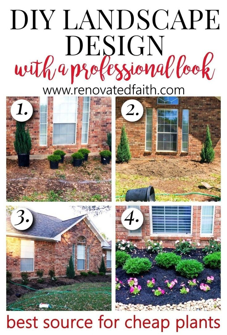 EASY DIY LANDSCAPE DESIGN - Simple front yard landscaping ... on Yard Ideas On A Budget id=26238