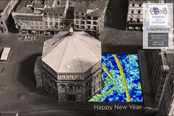 Imagery made by Dr. Gianluca Catanzariti from 3D GeoImaging using the IDS Stream Multichannel GPR and GPR-SLICE.