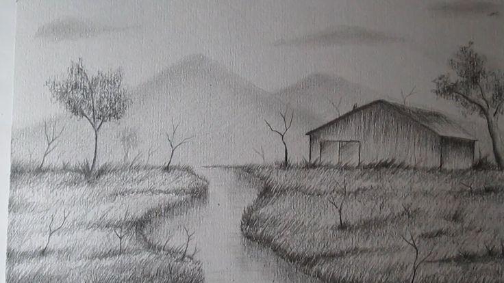 Cómo dibujar un sencillo paisaje a lápiz paso a paso, BIEN EXPLICADO - YouTube                                                                                                                                                     Más
