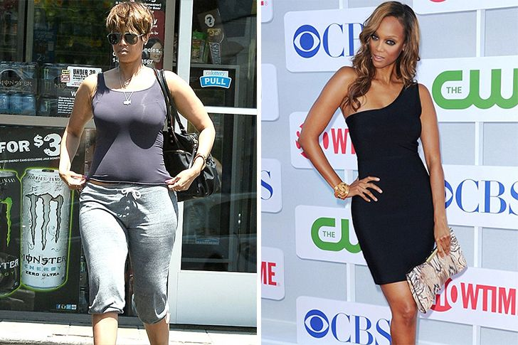 Tyra Banks Tyra Banks has been seen inthe media battlingher weight and suffering ongoing scrutiny. Due to some very unflattering photos which floated on various medias, the supermodelworked hard and nowlooks as beatiful as she wasin the 90s.