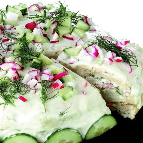 Recept på Glutenfri smörgåstårta från - Hemmets Journal