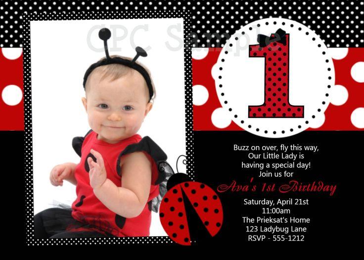 Ladybug Birthday Invitation Ladybug Birthday Party Invitation Printable.
