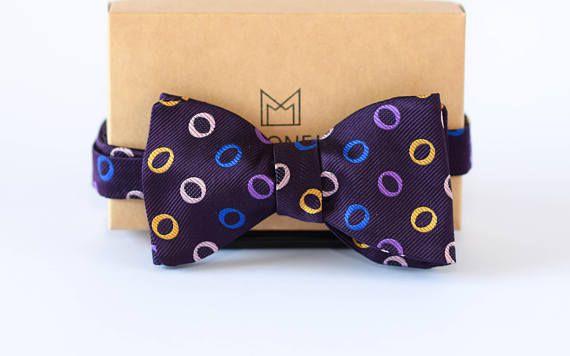 Violet Bow Tie, Purple Bow Tie, Silk Bow Ties, Mens Gift, Wedding Bowties, Groom Bow Tie, Groomsmen Bowties, Custom Bow Tie, Self Tie Bowtie
