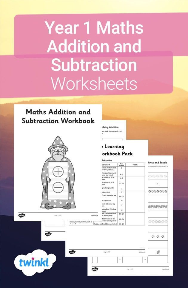 Year 1 Maths Addition And Subtraction Workbook Math Addition Year 1 Maths Addition And Subtraction Worksheets Subtraction worksheets year twinkl