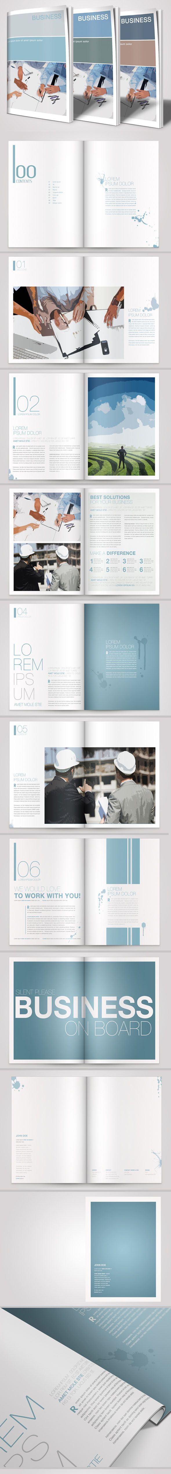 A4 Business Brochure Vol. 01 by Danijel Mokic, via Behance
