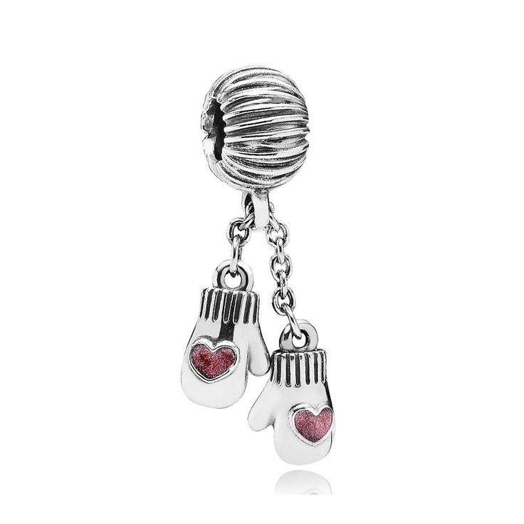 Pandora Silver Mittens Pendant Charm <3<3<3