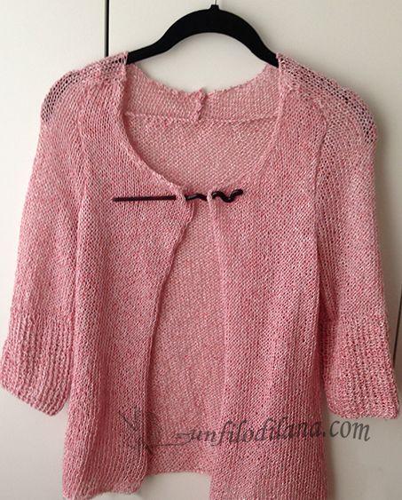 in cotone e seta questo giacchino svelto per le sere d'estate