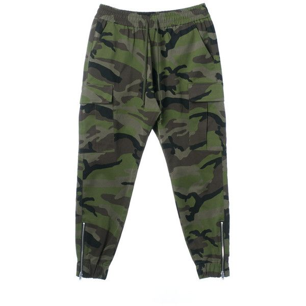 SS17 CAMO CARGO JOGGER PANTS (300 AUD) ❤ liked on Polyvore featuring pants, cotton trousers, camouflage trousers, camo pants, camouflage pants and camo trousers