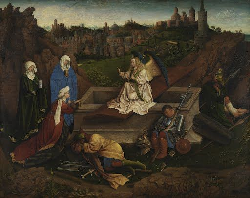 The Three Marys at the Tomb Hubert van Eyck or Jan van Eyck or both1425 - 1435