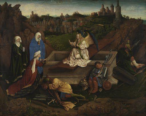 The Three Marys at the Tomb Hubert van Eyck or Jan van Eyck or both1425 - 1435