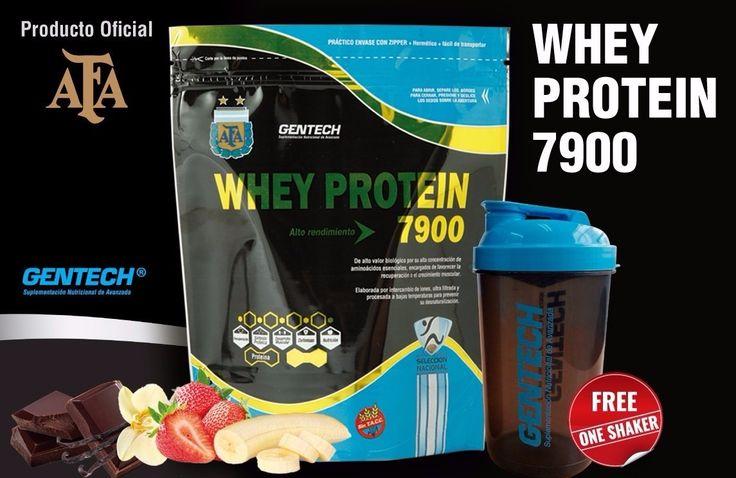 Whey Protein 7900 #GENTECH + Shaker de regalo👊 $480 La proteína de suero de leche, también conocida como whey protein, es uno de los suplementos más utilizados cuando el objetivo es aumentar masa muscular o hipertrofiar. ¿La razón? Son una excelente fuente de aminoácidos esenciales (contiene 9) y elevan los aminoácidos plasmáticos. Por ello, la proteína de suero de leche aporta las bases para la recuperación de los músculos tras el esfuerzo así como de su preservación.