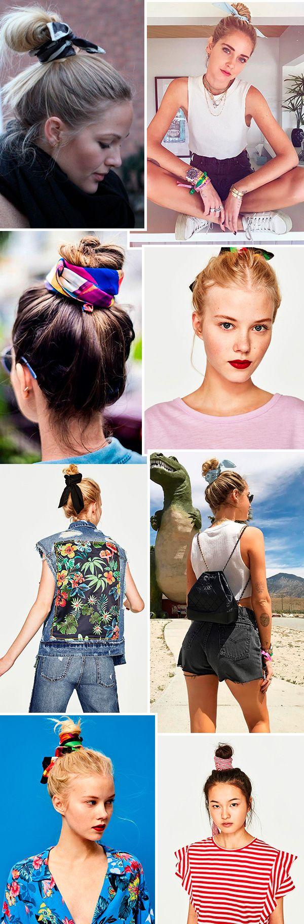 Hair trend: coque com lenço
