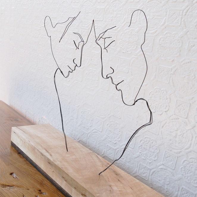 alambre base de madera