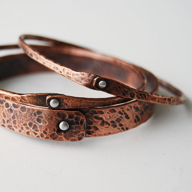 Copper bangles  |  Artist:  Cyndie Smith, New Port Richey, Florida, USA  |  www.cyndiesmithdesigns.com  |  via:  Cyndiesmithdesigns on Flickr