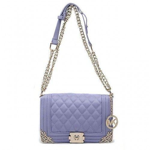 Michael Kors Sloan Chain Large Purple 005 Shoulder Bags