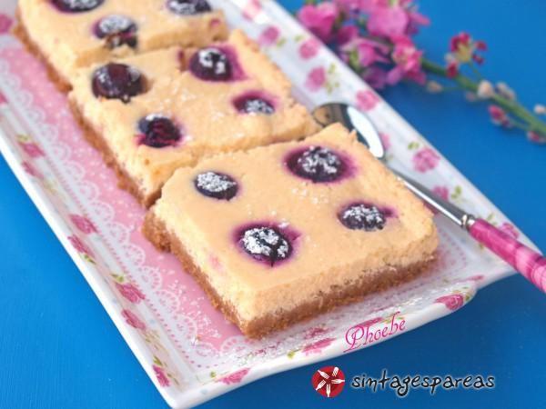 Cheesecake λεμονιού με μύρτιλλα #sintagespareas #cheesecake #blueberries