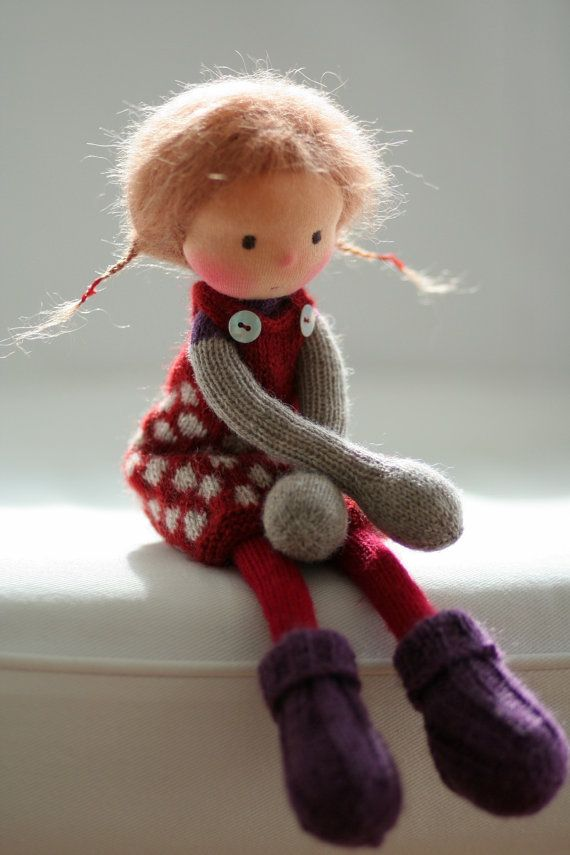 """Reserved for Nani-Knitted doll Valerie 14"""" by Peperuda dolls"""
