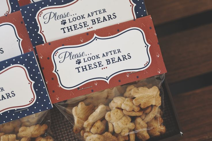 Teddy bear snacks at a Paddington birthday party! See more party planning ideas at CatchMyParty.com!