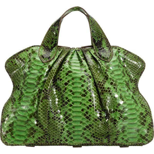 Zagliani Painted Python Medium Vittoria Bag ($4,600) ❤ liked on Polyvore