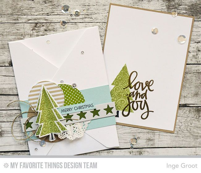 Oh Christmas Trees Stamp Set and Die-namics, Merry Everything Stamp Set, Hand-Lettered Christmas Stamp Set - Inge Groot  #mftstamps