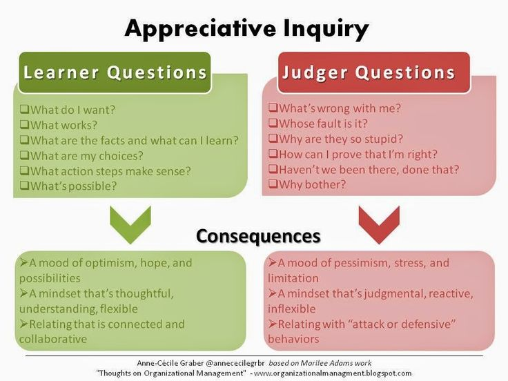 Thoughts on Organizational Management: Become a Learner with Appreciative inquiry