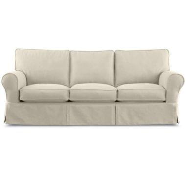 Friday Twill Slipcovered Sofa Natural Sofas Plywood