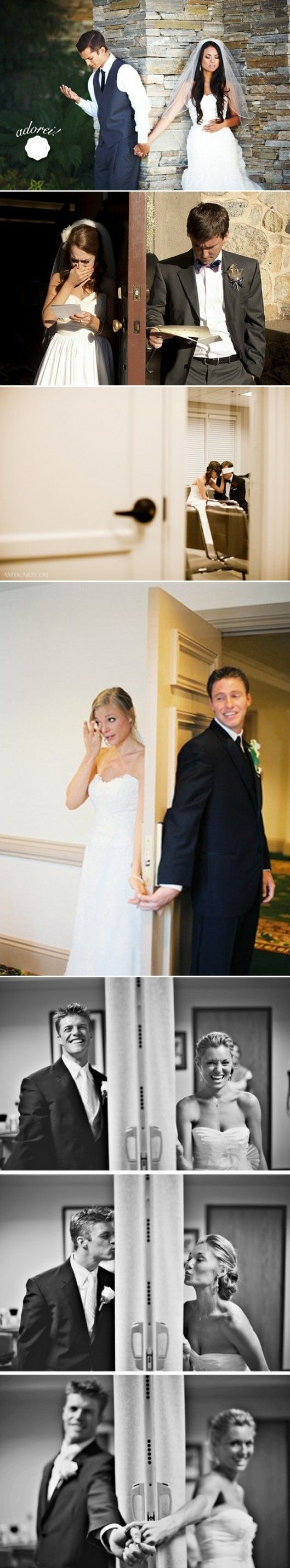"greg says I will need him on the wedding day because I'm going to be a mess from stress.  I say I want that ""moment"" when he first sees me walking down the isle... so this door thing looks like a good idea :)"