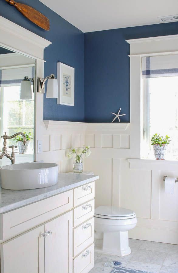 New Images Bathroom Remodel Paint Concepts These Kinds Of Ideas May Turbo Charge Your Own Pr In 2020 Navy Blue Bathroom Decor Blue Bathroom Decor Paint Colors For Home