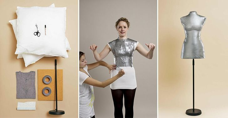 Make a dress form that fits your own figure.