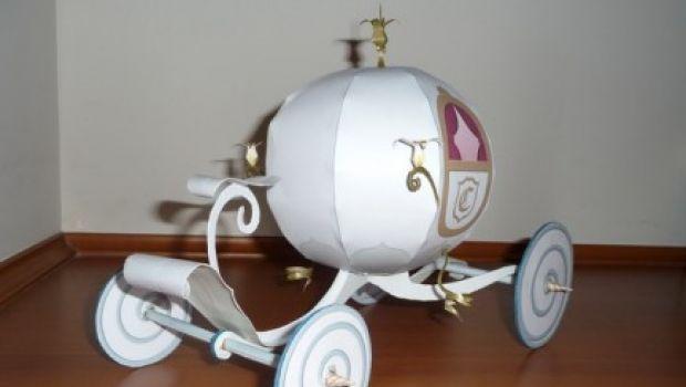 La carrozza di Cenerentola: il modellino da costruire con la carta