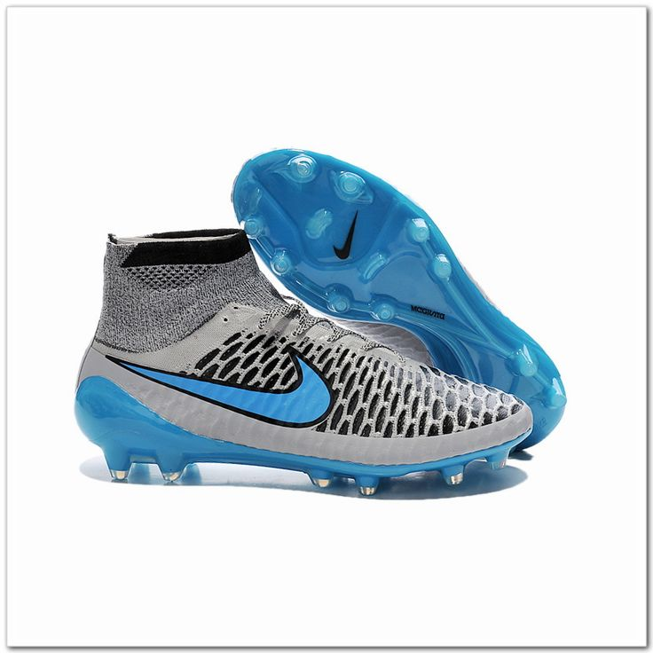 Nike Magista Obra FG 2015-16 Soccer Boot Wolf Grey Turquoise Blue Black-Only