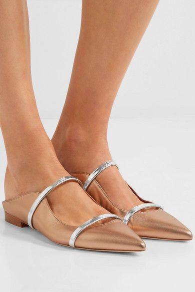 6df02ad8d6e MALONE SOULIERS MAUREEN FLATS 39  585 Metallic Point Toe Mule Net-a-Porter  Shoes  MALONESOULIERS  Flats  Any