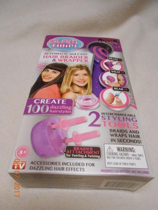 Glam Twirl Easy And Automatic Hair Braider & Wrap Styling Tool Christmas Ne Hd-gt 600606405997 0600606405997 Teen
