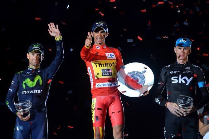 Vuelta a España 2014 - Stage 21: Santiago de Compostela (ITT) - blank 9.7km photos - Alberto Contador (Tinkoff-Saxo) winner of the 2014 Vuelta a España