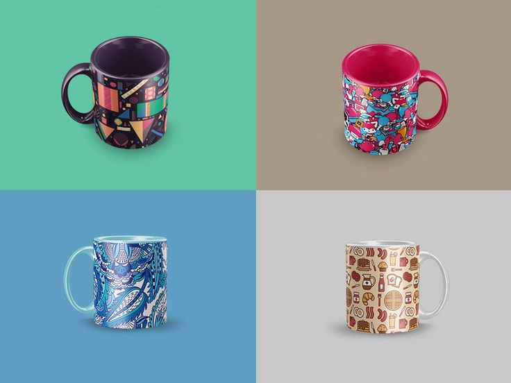 4 Free Mug Mockup PSD