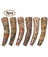 Gospire 6 Pcs Nylon Fake Temporary Tattoo Sleeves Body Art Arm Stockings... - $12.99