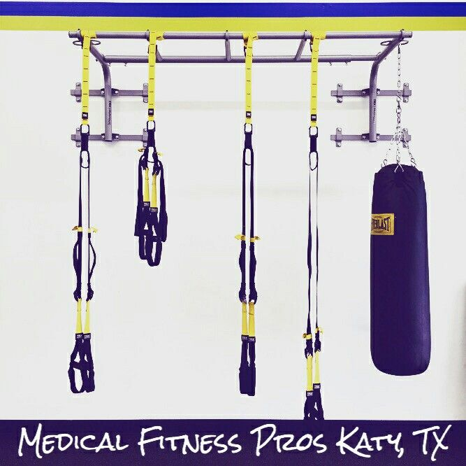Our suspension training is always ready for use with our personal trainers at Medical Fitness Pros in Katy, TX. medicalfitnesspros.com  Come visit us for your complimentary consultation today! 2004 S. Mason Rd. Katy, Texas 77450 281-500-6055