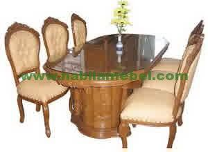 Meja Makan Ukir Jati Jepara merupakan furniture jati inovasi terbaru mebel jepara kami jual dengan harga murah