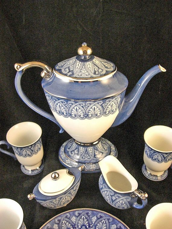 Spode Blue White Coffee Service. I also have the matching teapot, cups and saucers from Bombay. Love it!
