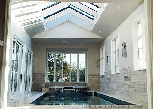 opulent design retractable roof. Here s a private pool  lots of glass for light and an operable roof 15 best Retractable Roofs the Ultimate Luxury images on