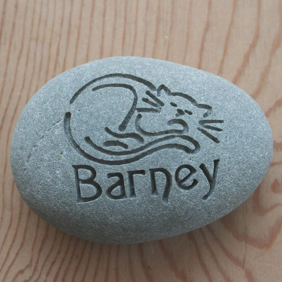Cat Memorial Stone  Personalized Engraved Pet by sjengraving