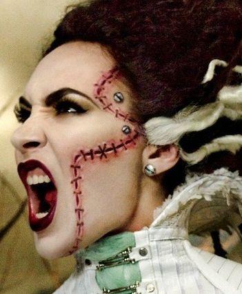 Best 25+ Bride Of Frankenstein Makeup Ideas On Pinterest | Frankenstein Bride Costume Bride Of ...