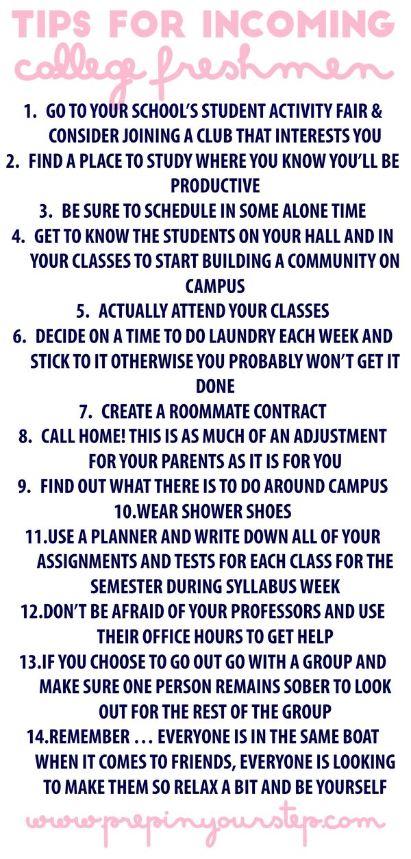 Prep In Your Step: Tips For Incoming College Freshmen Part 23