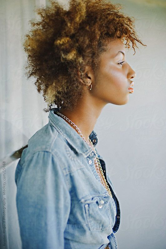 Stylish Teenage Model with Afro by Kristin Rogers Photography #stocksy #realstock