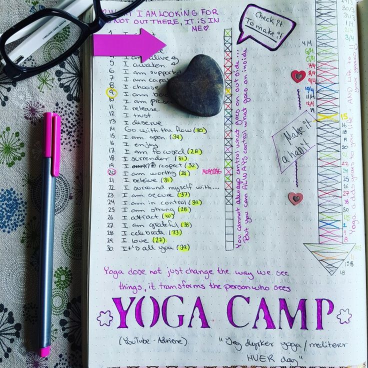 Tracking my yoga in my bullet journal. Find what feels good #yogawithadriene