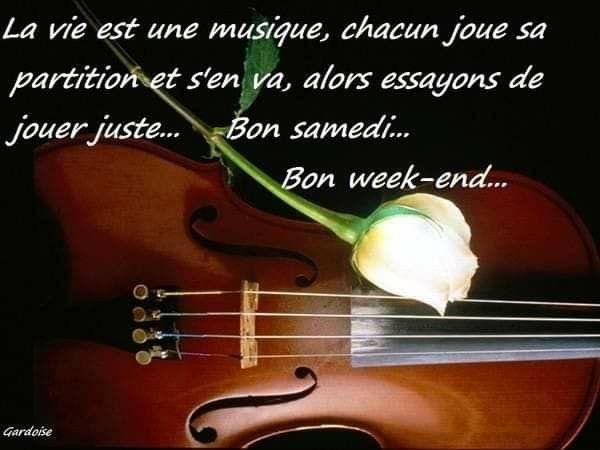 Pin By Aicha Rochdi Damdami On Quotes In French Bon Weekend Violin Music Notes