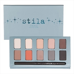 Stila Cosmetics Eye Shadow Palette - In The Know    In The Garden includes an exclusive smudge stick waterproof eye liner in starfish. The eye shadow formula can be worn wet or dry and contains 10 botanical-inspired shades.